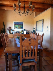 The dining room at Leroux Creek Inn